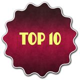 TOP 10 round badge. Illustration graphic concept image Royalty Free Stock Image