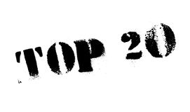Top 20 rubber stamp. Grunge design with dust scratches. Effects can be easily removed for a clean, crisp look. Color is easily changed Royalty Free Stock Photography
