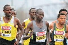 Top runners in Prague half marathon 2013 Stock Images