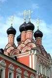 Top of Russian church closeup Stock Photo