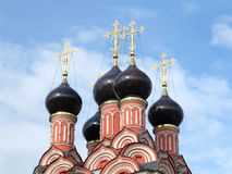 Top of Russian church closeup Stock Images