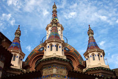Top of the Russian church in Lloret de Mar in Spain Stock Image