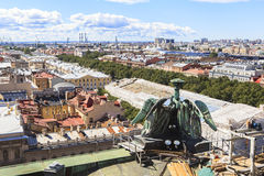Top of Saint Isaac's Cathedral, Saint Petersburg Stock Images