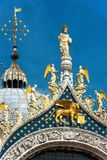 Top of Saint Mark`s Basilica in Venice, Italy royalty free stock photos