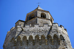 Top of Saint-Martin Tower. In Soreze, France royalty free stock photos