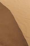Top of sand dune. Lit from one side by sun royalty free stock images