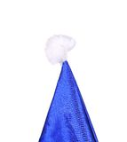 Top of Santa Claus conical blue hat. Royalty Free Stock Photography