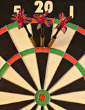 Top Score. Triple twenty, good darts Royalty Free Stock Photography