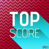 Top Score Tittle Graphics. Vector Elements. Chevron Background Illustration. EPS10 Stock Photo