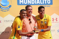TOP SCORER Award - Mundialito 2017 Carcavelos Portugal royalty free stock photography