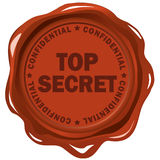 Top secret. Wax stamp isolated over white Royalty Free Stock Photos