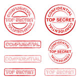 Top secret. And confidential stamp Royalty Free Stock Photography