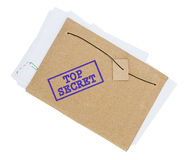 Top Secret. Documents isolated on the white background Royalty Free Stock Photo