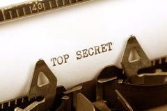 Top Secret. Typewriter close up shot, Concept of Top Secret Royalty Free Stock Photos