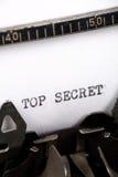 Top Secret. Typewriter close up shot, Concept of Top Secret Stock Photography