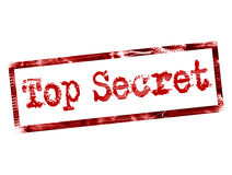 Top secret. Stamp on red color Stock Photos