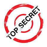 Top Secret. Vector illustration of a grungy dirty top secret stamp Royalty Free Stock Photo