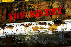 Top secret. On army metal background Stock Photography