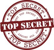 Top secret. Vector top secret stamp with red ink Royalty Free Stock Image