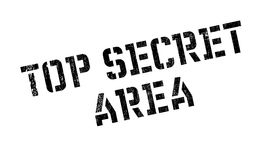 Top Secret Area rubber stamp Royalty Free Stock Photo