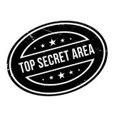 Top Secret Area rubber stamp Stock Images