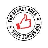 Top Secret Area rubber stamp Stock Photos