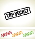 Top secret background. A top secret background stamp Royalty Free Stock Images