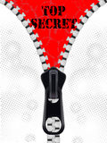 Top secret background with zipper Royalty Free Stock Photos
