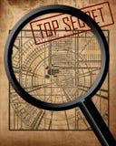 Top secret blueprint Royalty Free Stock Image