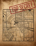 Top secret blueprint Royalty Free Stock Photo