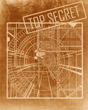 Top secret blueprint Stock Photos