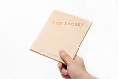 Top secret box. A top secret box. Don't dare to open Stock Images