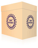Top secret box Royalty Free Stock Photos