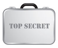 Top secret briefcase Royalty Free Stock Photography