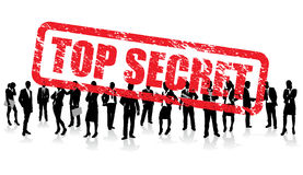 Top secret business people. A top secret stamp on a business people background Stock Image