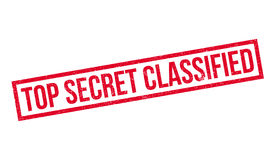 Top Secret Classified rubber stamp. Grunge design with dust scratches. Effects can be easily removed for a clean, crisp look. Color is easily changed Royalty Free Stock Photography