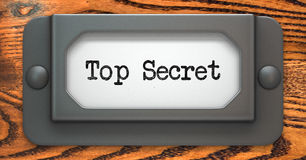 Top Secret - Concept on Label Holder. Stock Photos