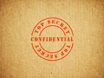 Top Secret Confidential box. Background Stock Images
