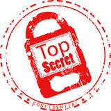 Top secret - confidential grunge stamp Royalty Free Stock Photo