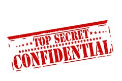Top secret confidential. Rubber stamps with text top secret confidential inside,  illustration Stock Photo