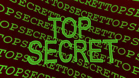 Top secret - confidenziale Immagini Stock
