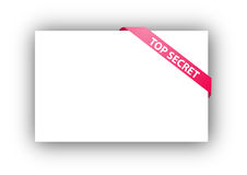 Top secret corner ribbon Stock Photography