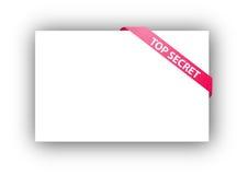 Top secret corner ribbon Stock Photography