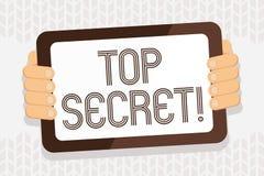 Top secret d'écriture des textes d'écriture Les informations les plus élevées ou endroits de dossiers fortement confidentiels de  illustration de vecteur