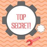 Top secret des textes d'écriture de Word Concept d'affaires pour les informations les plus élevées ou des endroits de dossiers fo illustration de vecteur