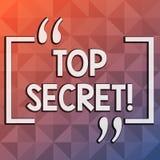 Top secret des textes d'écriture de Word Concept d'affaires pour les informations les plus élevées ou des endroits de dossiers fo illustration libre de droits