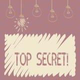 Top secret des textes d'écriture Les informations les plus élevées ou les endroits de dossiers fortement confidentiels de secrec  illustration de vecteur