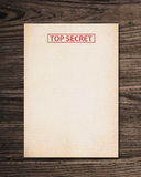 Top secret document. Stock Photo