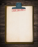 Top secret document. Royalty Free Stock Images