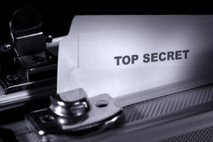 Top Secret Document in Armored Briefcase royalty free stock photos